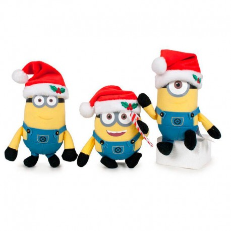 Peluche llavero Minions Christmas 10cm surtido