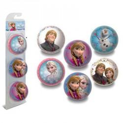 Blister pelota Frozen Disney 3 unidades 6cm surtido