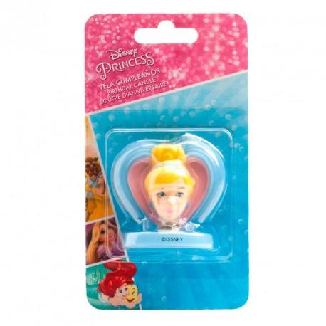 Vela corazon 3D Cenicienta Disney 5cm
