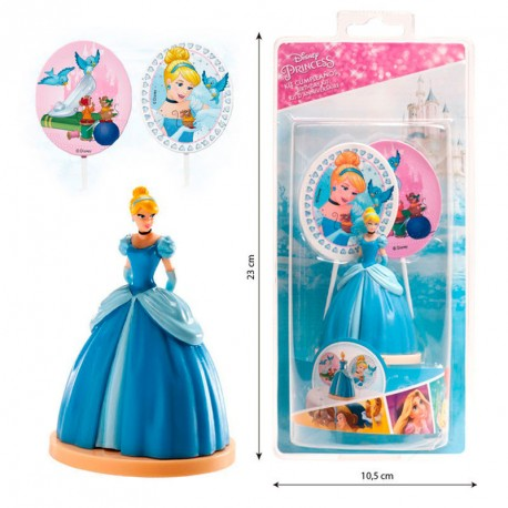 Kit decoracion tartas Cenicienta Disney pinchos