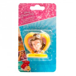 Vela corazon 3D Bella Disney 5cm