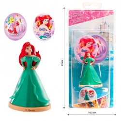 Kit decoracion tartas Ariel Disney velas