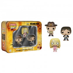 Caja metalica Pocket POP Vinyl The Walking Dead Daryl Rick Walker