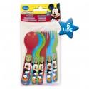 Set cubiertos Mickey Disney picnic 6pz