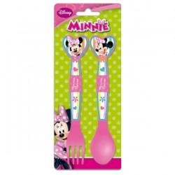 Set cubiertos Minnie Disney corazon