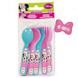 Set cubiertos Minnie Disney picnic 6pz