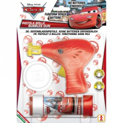 Pistola burbujas + pompero Cars Disney
