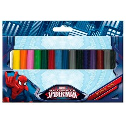 Blister 18 ceras jumbo Spiderman Marvel