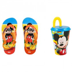 Oferta Mickey pack chanclas premium + 12 vasos GRATIS!