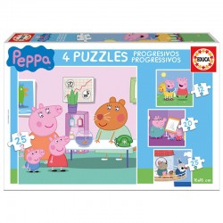 Puzzles progresivos Peppa Pig 12-20-25-25pz