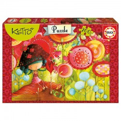 Puzzle Ketto Jungle flowers 200pz