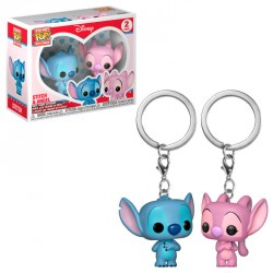 Pack llaveros Pocket POP Disney Stitch & Angel