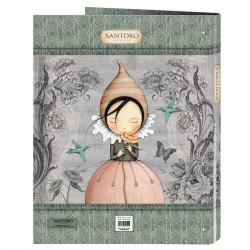Carpeta A4 Mirabelle Santoro anillas