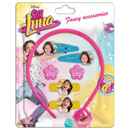 Set accesorios pelo Soy Luna Enjoy Love 7pz