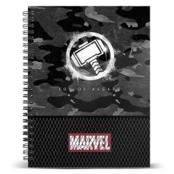Cuaderno A4 Thor Hammer Marvel