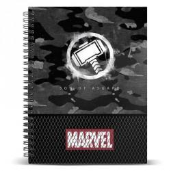 Cuaderno A5 Thor Hammer Marvel