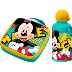 Set sandwichera termica + cantimplora aluminio Mickey Disney