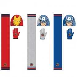 Conjunto gorro guantes bufanda Iron Man Capitan America Vengadores surtido